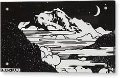 The Jungfrau Acrylic Print by Felix Edouard Vallotton