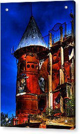 The Junk Castle Acrylic Print by David Patterson