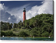 The Jupiter Inlet Lighthouse Acrylic Print by Laura Fasulo