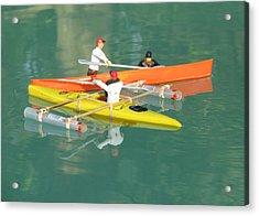 The Kayak Team 12 Acrylic Print by Digital Art Cafe