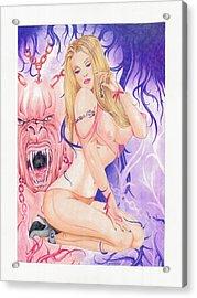 The Keeper Acrylic Print by Julian  B