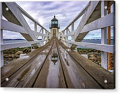 The Keeper's Walkway At Marshall Point In Color Acrylic Print
