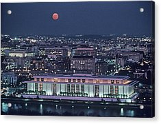The Kennedy Center Lit Up At Night Acrylic Print by Kenneth Garrett