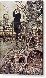 The Kensington Gardens Are In London Where The King Lives Acrylic Print by Arthur Rackham