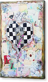 The Key - Ephemera Fashion Heart Acrylic Print