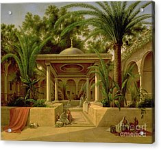 The Khabanija Fountain In Cairo Acrylic Print by Grigory Tchernezov