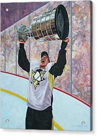 The Kid And The Cup Acrylic Print by Allan OMarra