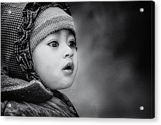 The Kid From Sarangkot Acrylic Print by Piet Flour