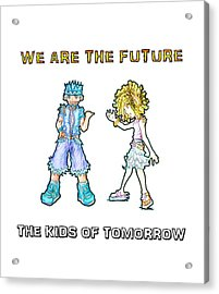 Acrylic Print featuring the digital art The Kids Of Tomorrow Toby And Daphne by Shawn Dall