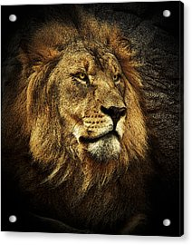Acrylic Print featuring the mixed media The King by Elaine Malott