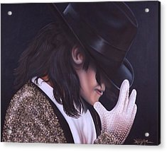 The King Of Pop Acrylic Print