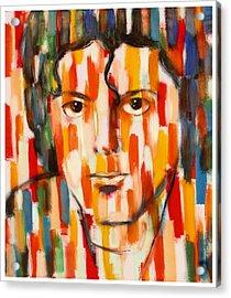 the king of pop Michael Jackson Acrylic Print by Habib Ayat