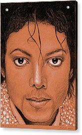 The King Of Pop Acrylic Print by Rob De Vries