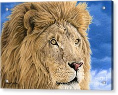 The King Acrylic Print by Sarah Batalka
