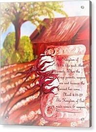 The Kingdom Of God Acrylic Print by Eloise Schneider