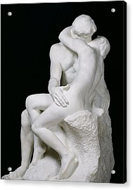 The Kiss Acrylic Print by Auguste Rodin