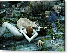The Kiss Acrylic Print by Jutta Maria Pusl