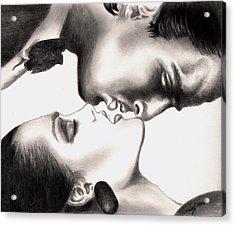 The Kiss Acrylic Print by Kathleen Kelly Thompson