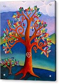 The Kissing Tree Acrylic Print by Lori Miller
