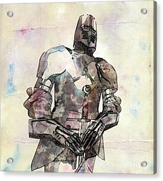 The Knight Pop Art By Mary Bassett Acrylic Print