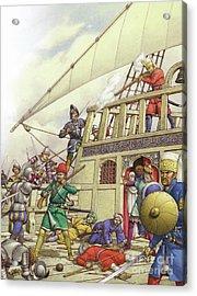 The Knights Of St John Seized Turkey's Finest Galleon, The Sultana Acrylic Print