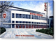 The Kohl Center Acrylic Print by Thomas Kuchenbecker