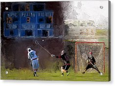 The Lacrosse Shot Acrylic Print by Scott Melby