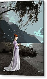 The Lady And The Kitty Acrylic Print