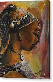 Acrylic Print featuring the painting The Lady by Bernadette Krupa
