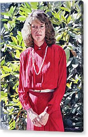 The Lady In Red Acrylic Print