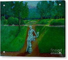The Lady In The Park     Copyrighted Acrylic Print by Kathleen Hoekstra