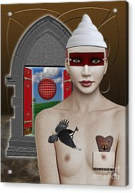 The Lady In Waiting Acrylic Print by Keith Dillon