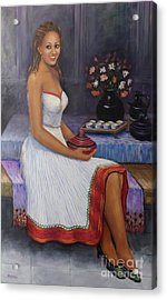The Lady In Waiting Acrylic Print