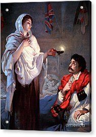The Lady With The Lamp, Florence Acrylic Print by Science Source