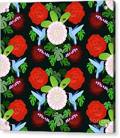 The Ladybird And The Hummingbird Acrylic Print