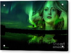 The Lake Is Her Mirror Acrylic Print