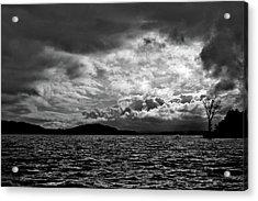 The Lake Acrylic Print by John K Sampson