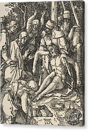 The Lamentation, From The Small Passion Acrylic Print