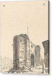 The Land Gate, Rye, Sussex Acrylic Print by Thomas Girtin