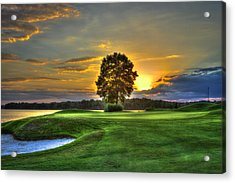The Landing Golf Course Reynolds Plantation Acrylic Print by Reid Callaway