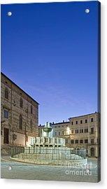 The Landmark Fontana Maggiore Acrylic Print by Rob Tilley