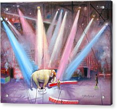 Acrylic Print featuring the painting The Last Circus Elephant by Oz Freedgood