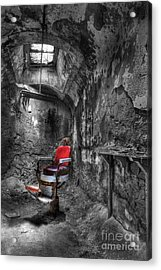The Last Cut- Barber Chair - Eastern State Penitentiary Acrylic Print by Lee Dos Santos
