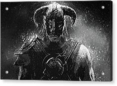 The Last Dragonborn - Skyrim Acrylic Print