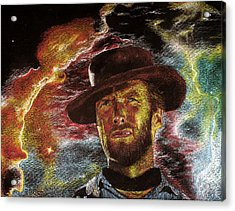The Last Gunslinger Acrylic Print by Matthew Fredricey
