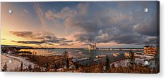 The Last Ice On The Bay Acrylic Print by Jeff S PhotoArt