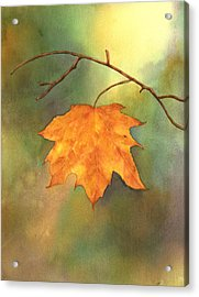 The Last Leaf Acrylic Print by Gladys Folkers