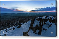 the last light of the day in the Harz mountains Acrylic Print