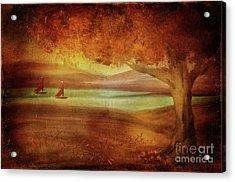 Acrylic Print featuring the digital art The Last Sail Of The Season  by Lois Bryan