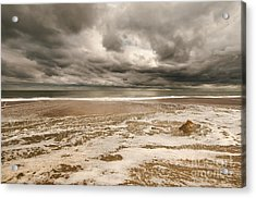 The Last Sand Castle Of The Season Acrylic Print
